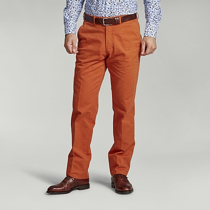 Rust Orange Cotton Trouser