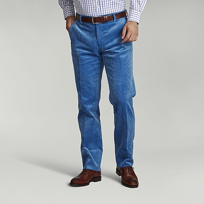 Light Blue English Cord Trouser