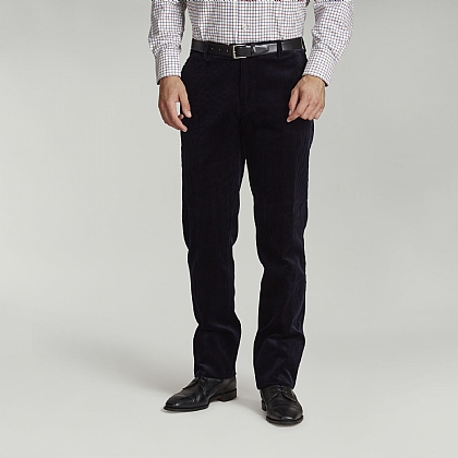 Navy English Cord Trouser