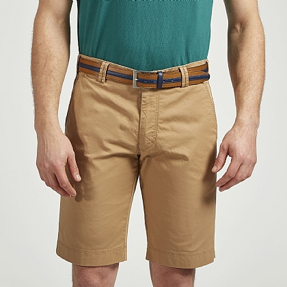 Beige Meyer Tailored Cotton Short