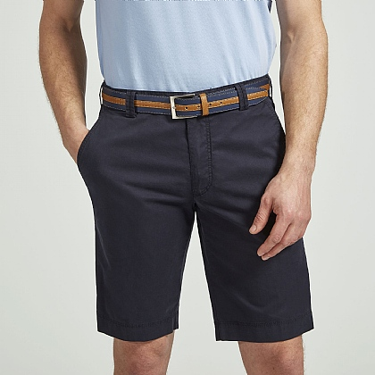Navy Meyer Tailored Cotton Short