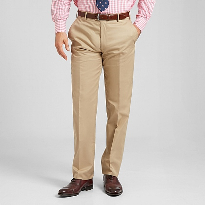 Beige Smart Cotton Unfinished Trouser