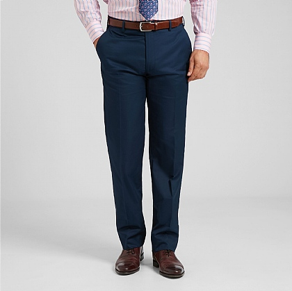 Navy Smart Cotton Trouser