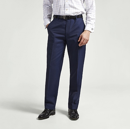 Navy Lightweight Gaberdine Trouser