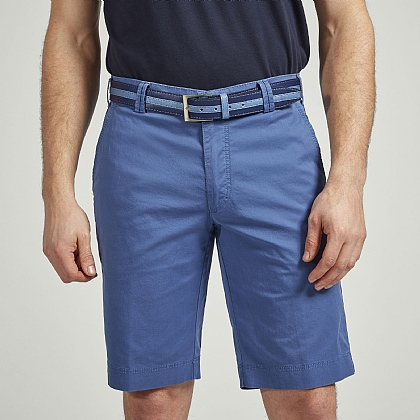 Blue Meyer Tailored Cotton Short