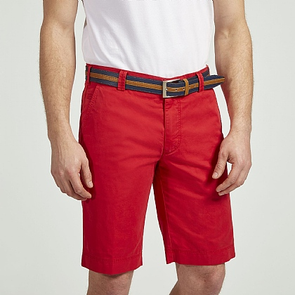 Red Meyer Tailored Cotton Short
