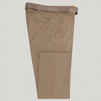 Beige Roma Cotton Trouser