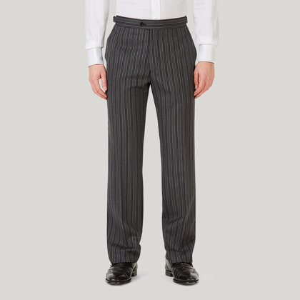 Grey Wool Morning Trousers