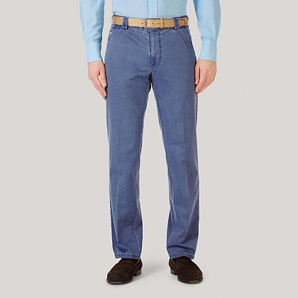 Sky Cotton Classic Fit Trousers