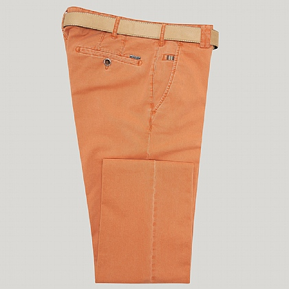 Orange Cotton Classic Fit Trousers