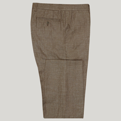 Brown Mix and Match Cotton Trouser