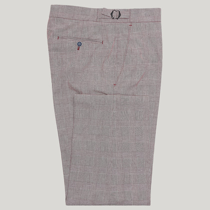 Burgundy Prince of Wales Check Trouser