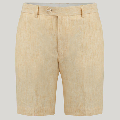 Yellow Linen Shorts