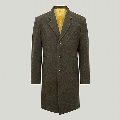 Lovat Green Wool and Cashmere Blend Coat