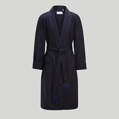 Navy Worsted Wool Gown
