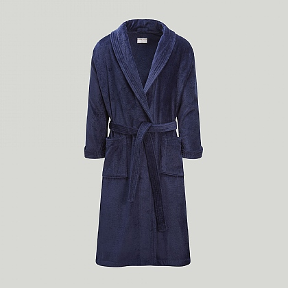 Navy Towelling Robe