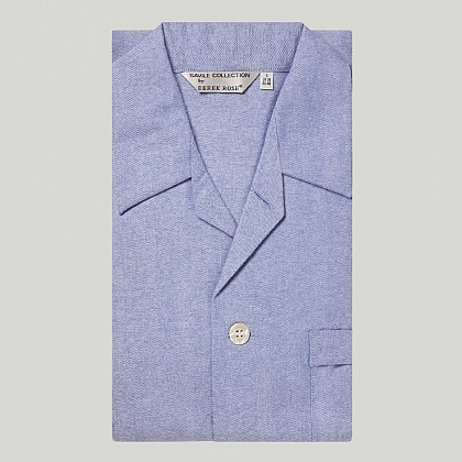 Blue Brushed Cotton Pyjama