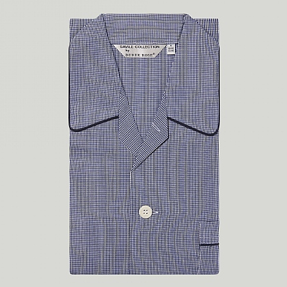 Navy Check Cotton Pyjama