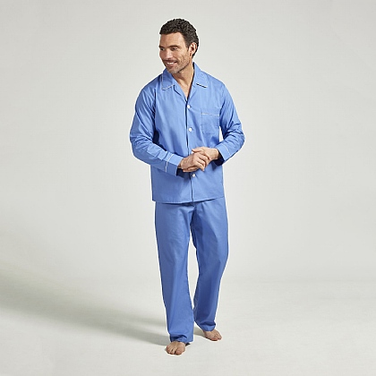 Classic Pacific Blue Cotton Pyjamas