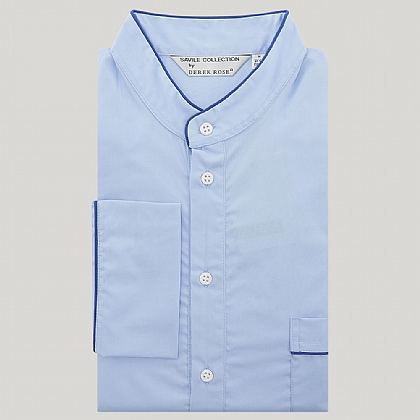 Blue Grandad Collar Nightshirt