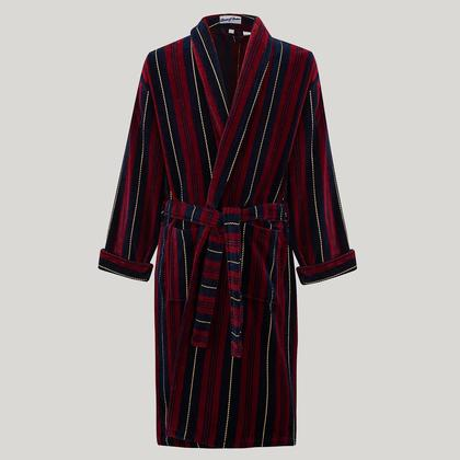 Marchand Striped Towelling Gown
