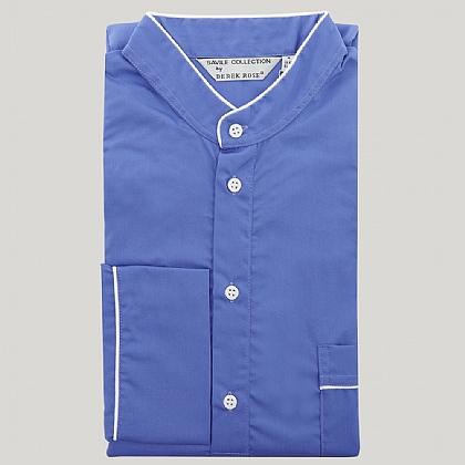 Sax Blue Grandad Collar Nightshirt
