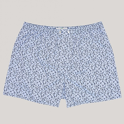 Floral Blue Boxer Shorts