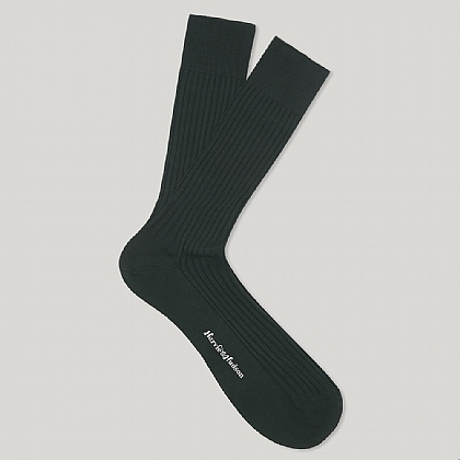 Dark Green Short Cotton Lisle Sock