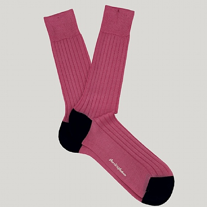Pink Heel and Toe Cotton Sock