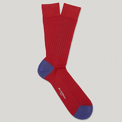 Red Heel and Toe Cotton Sock