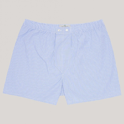 Blue Gingham Essential Boxer Shorts