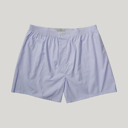 Blue Check Essential Boxer Shorts