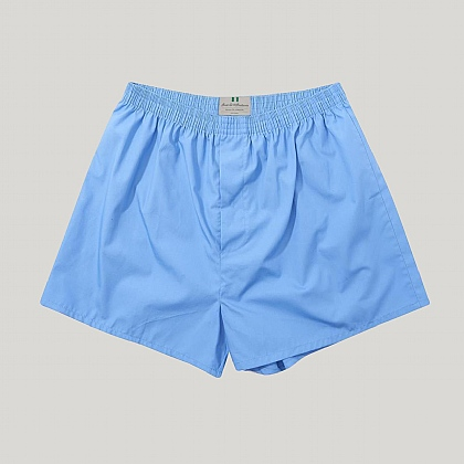 Mid Blue Cotton Essential Boxer Shorts