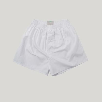 White Cotton Essential Boxer Shorts