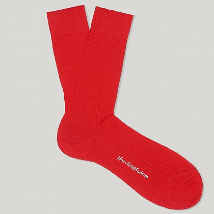 Red Short Cotton Socks