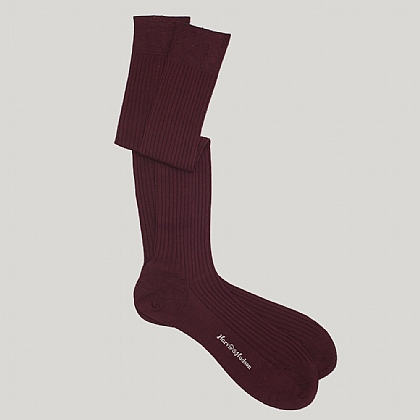 Long Cotton Sock Burgundy
