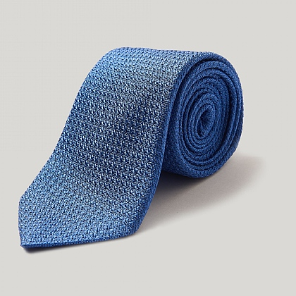 Bright Blue Silk Grenadine Tie