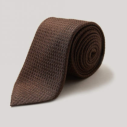Brown Silk Grenadine Tie