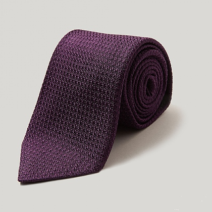 Purple Silk Grenadine Tie