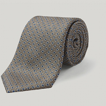 Biege Small Star Printed Tie
