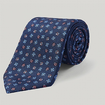 Blue and Pink Ladybirds Printed Tie