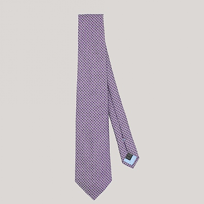 Purple Houndstooth Woven Silk Tie