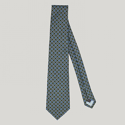 Green Floral Madder Printed Silk Tie