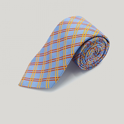 Blue Cross Rails Woven Silk Tie