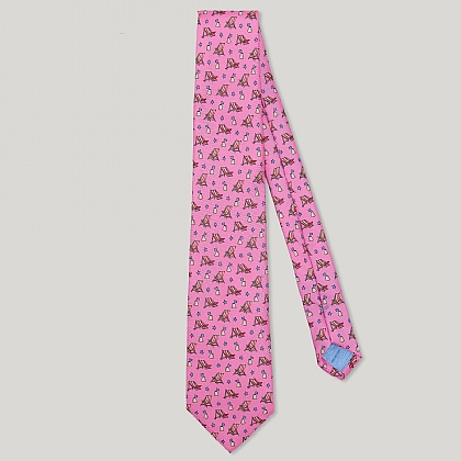 Pink Deck Chair Italian Silk Tie