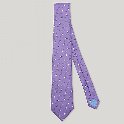 Purple Fedora Italian Silk Tie