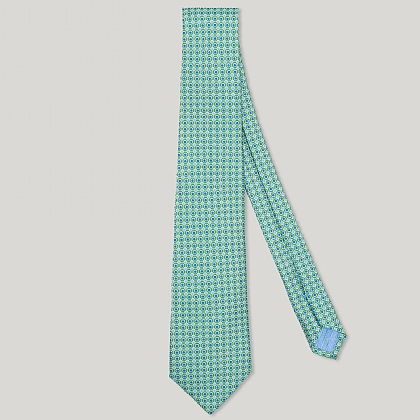 Green Circle Spot Italian Silk Tie