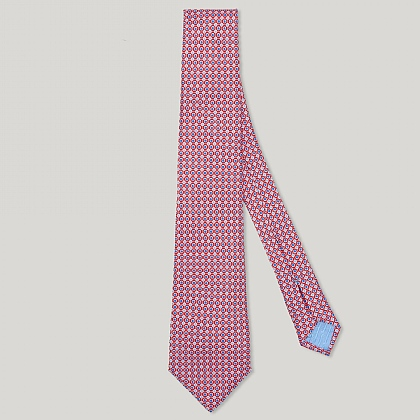 Red Circle Spot Italian Silk Tie