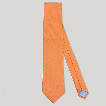 Orange Plain Essential Woven 100% Silk Tie