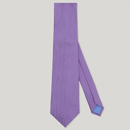 Purple Plain Essential Woven 100% Silk Tie